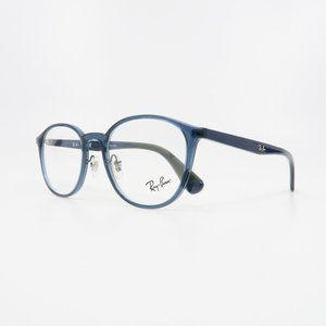 Ray-Ban RB 7156 5796 Unisex Round Clear Blue